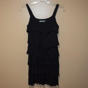 MAURICES Women's Sz M TIERED Black Sundress DRESS